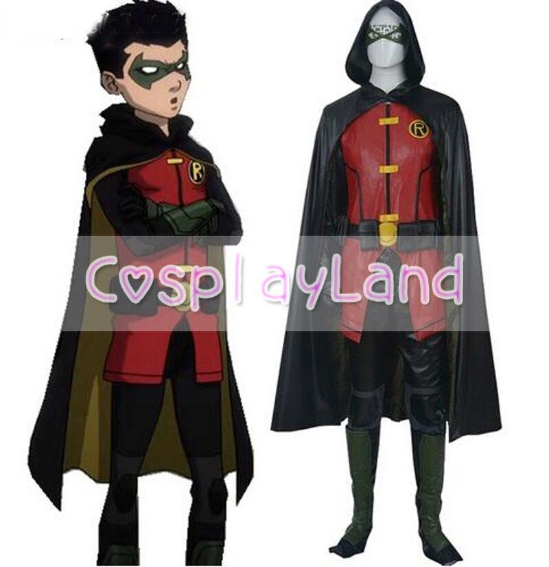 Justice League Vs Teen Titans Damian Wayne Cosplay Costume -7865
