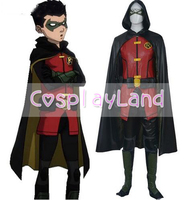 Justice League VS Teen Titans Damian Wayne Cosplay Costume Halloween Costumes for Adult Superhero Teen Titans Costume Custom