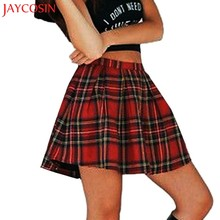 JAYCOSIN Girls School Uniform Scotland Plaid Checks Pleated Skirt Cotton Tartan Straight Mini Skirt z0814#(China)
