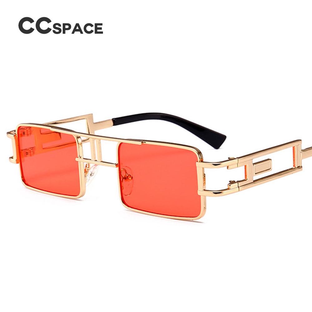 1e86c0397d7 Aliexpress.com   Buy CCSPACE 10 Colors Small Square Sunglasses Men Women  Steampunk Metal Frame Brand Glasses Designer Retro Vintage Shades 45477  from ...