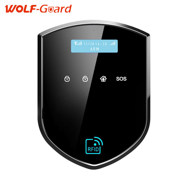 WOLF-Guard Wifi Wireless 433mhz Android IOS APP Remote Control RFID Security wifi Burglar alarm System With SOS Button