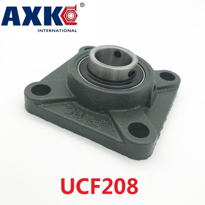 Axk Ucf208 40mm 4-bolt Square Flange Pillow Block Bearing With Housing norin 8x21 ucf nickel