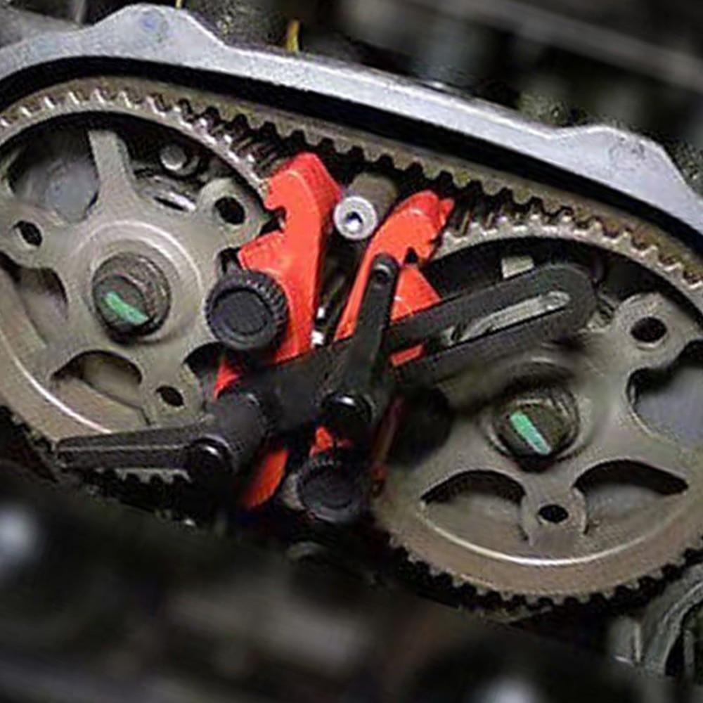 Vehemo Red 5Pcs/Set Durable Universal Cam Lock Tool Timing Vehicles Camshaft Lock Accessories Premium Auto