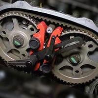 Vehemo Red 5Pcs Set Durable Universal Cam Lock Tool Timing Vehicles Camshaft Lock Accessories Premium Auto