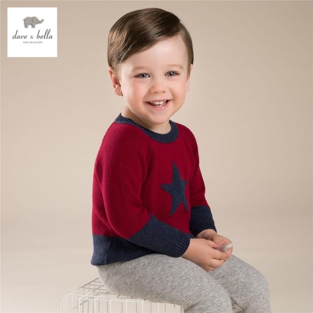 DB3604 davebella red boys sweater children pullover kids sweater