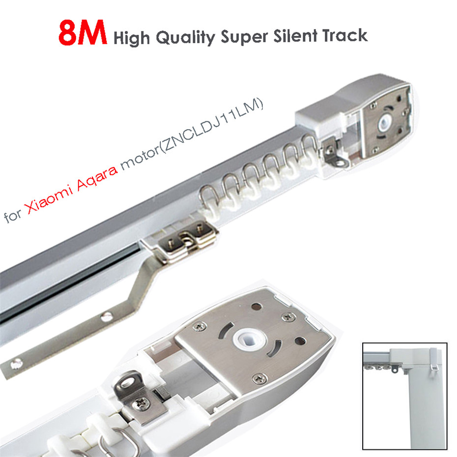 8M Or Less High Quality Track For Xiaomi Aqara Motor,Zigbee Wifi Curtain System,MI HOME App Smart Remote Control Silent Rail