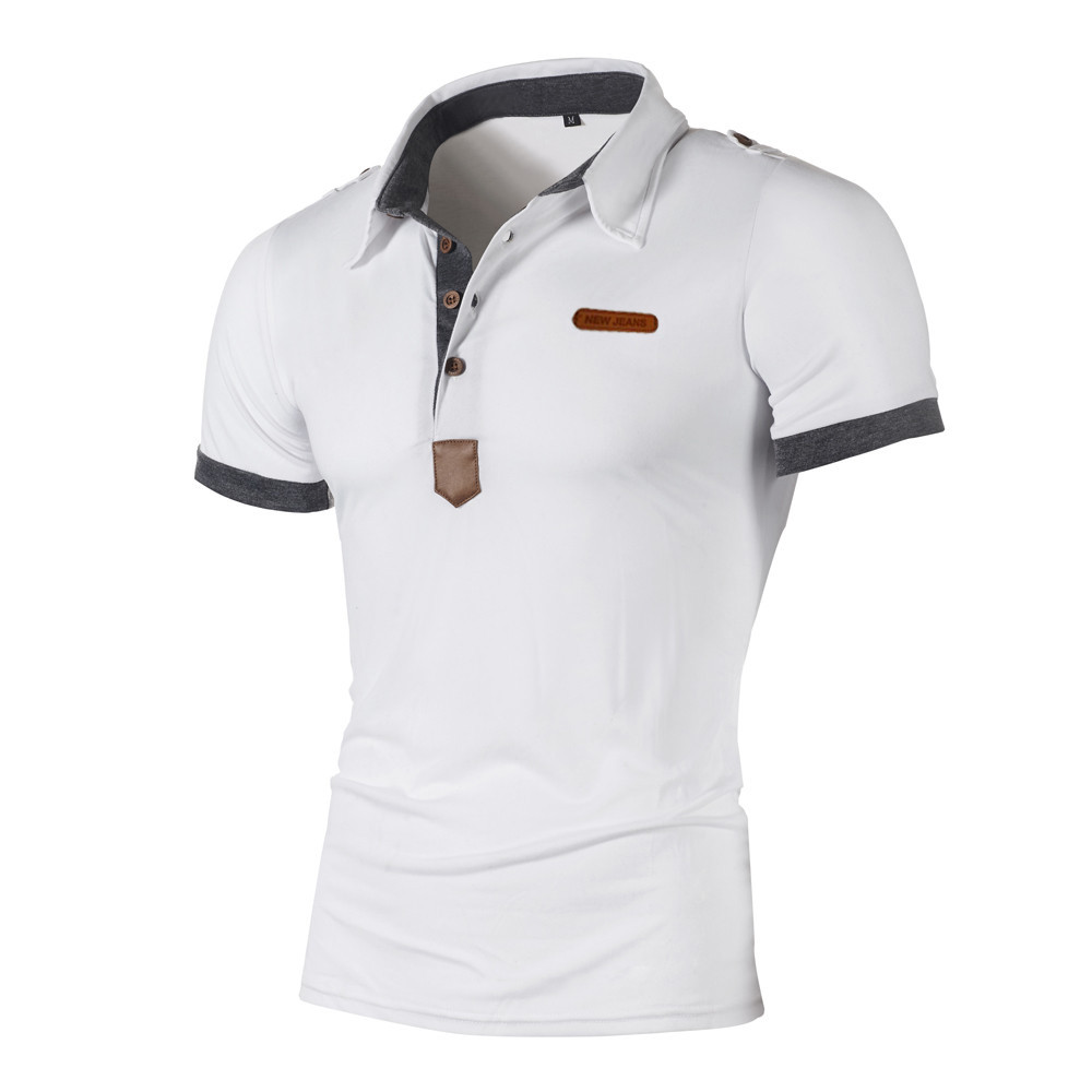 Polo   Shirts Men 2019 Summer short sleeve solid color   polos   shirts casual Fashion Personality Men's Casual Slim   polo   shirt men