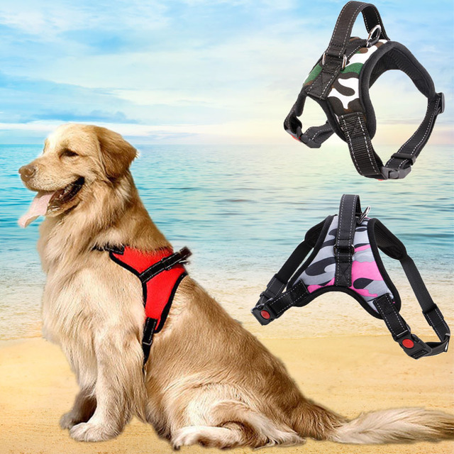 Pet dog Puppy patrol Luminous collar dogs collars and harnesses for dog light accessories leash dogs Breast-band harness for pet