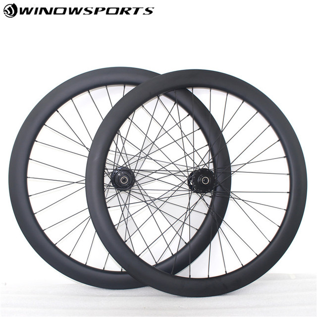 228d955cd9a Thru Axle Disc brake carbon road bike wheels 700C 50mm Clincher Tubuar  Cyclocross Gravel