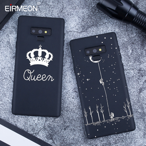 Image 3 - Pattern Case For Samsung Galaxy A6 Plus 2018 Note 9 A8 S9 S8 Plus S7 Edge A5 A3 A7 J7 J5 J3 2017 Black Matte Luxury back Covers