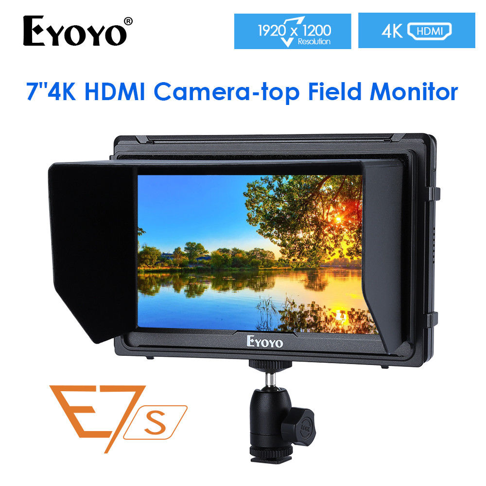 Eyoyo E7S 7 Inch Utra Slim IPS Full HD 1920x1200 4K HDMI On-camera Video Field Monitor for Canon Nikon Sony DSLR Camera Video