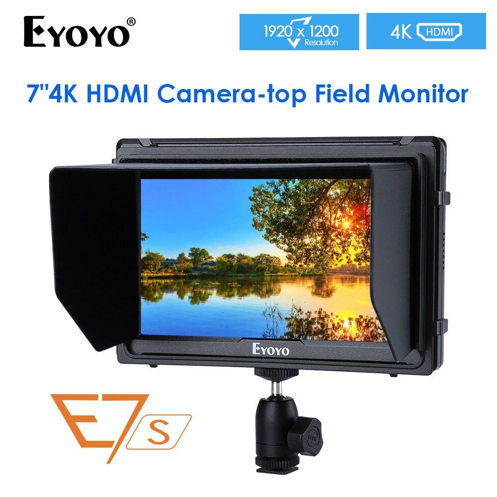 Eyoyo E7S 7 pouces Utra Slim IPS Full HD 1920x1200 4 K HDMI moniteur de champ vidéo sur caméra pour Canon Nikon Sony DSLR caméra vidéo