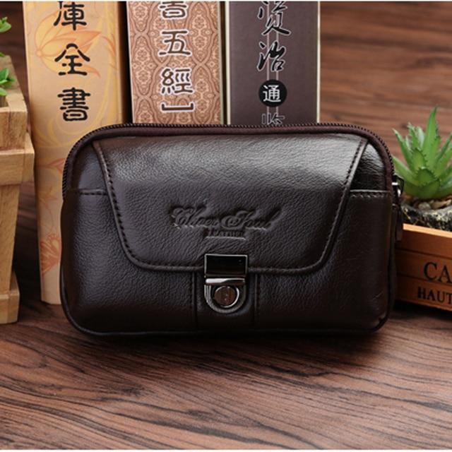 CHEER SOUL 100%Cow Leather Waist Packs Men Business Travel Fanny Packs Fashion Style Genuine Leather Belt Bag Male Waist Bag