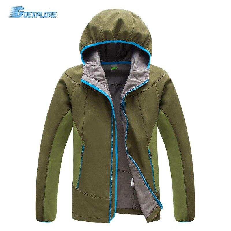 Livraison directe nouveau camping randonnée vestes coupe-vent imperméable à l'eau chaude hiver softshell vêtements mâle extérieur veste softshell