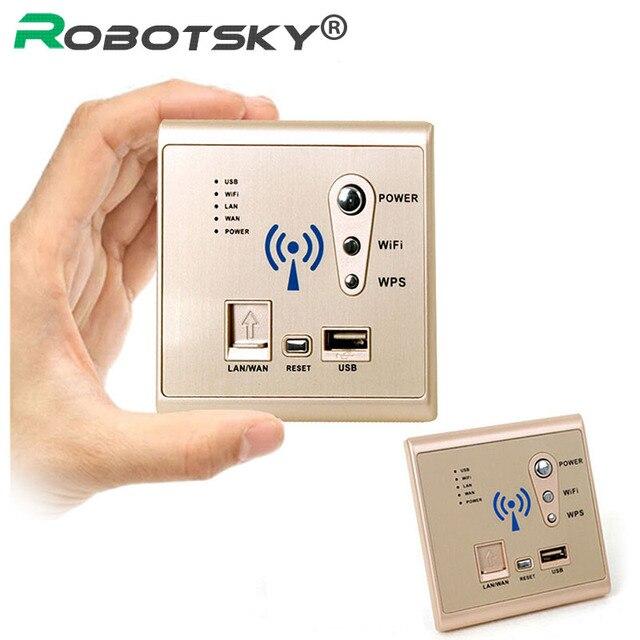 Ouro USB soquete de parede built-AP Roteador Sem Fio wi-fi USB tomada carregador de parede do telefone painel tomada de carregamento 3G interruptores de parede wi-fi