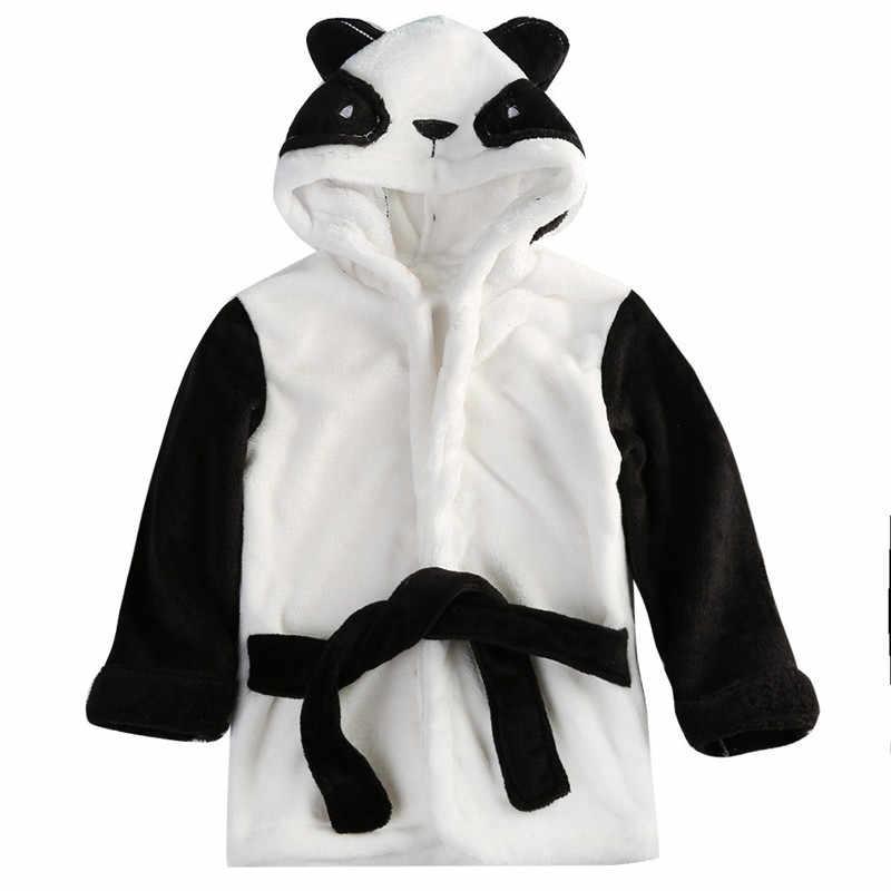 חמוד בני בנות אוזני בעלי החיים חלוק רחצה סלעית אמבט גלימות מגבת תינוק תינוק ארוך שרוול נים חגורת רחצה גלימות הלבשת 0-5Y