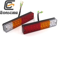 10V 30V 2pcs 20 LED Boat ATV Trailer Truck LED Tail Light Lamps Car Rear Lights