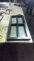 Export tempered Low e single/double glazed exterior wrought sliding iron french doors steel windows hench if59