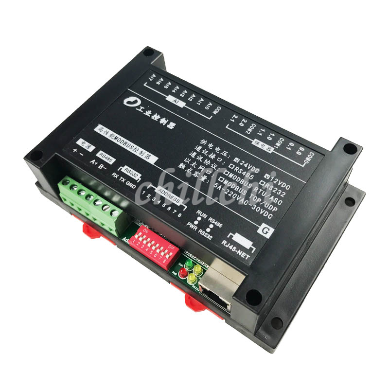 8 channel analog signal acquisition input 6 channel relay output Modbus TCP 220V5A Ethernet module
