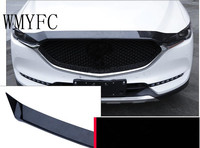 1pcs Carbon Fiber Front Grille Hood Engine Cover Trim for Mazda CX 5 CX 5 CX 5 2017 2018 Car Accessories Styling