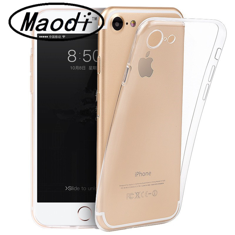Ultra Thin Soft TPU Gel Original Transparent Case For iPhone 4 4S 5 5S 6 6 Plus 7 7Plus Crystal Clear Silicon Phone Bags