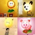 3D wall sticker lamp 220V novelty night light cartoon baby DIY Wallpaper wall lights decoration wall stickers wallpaper light