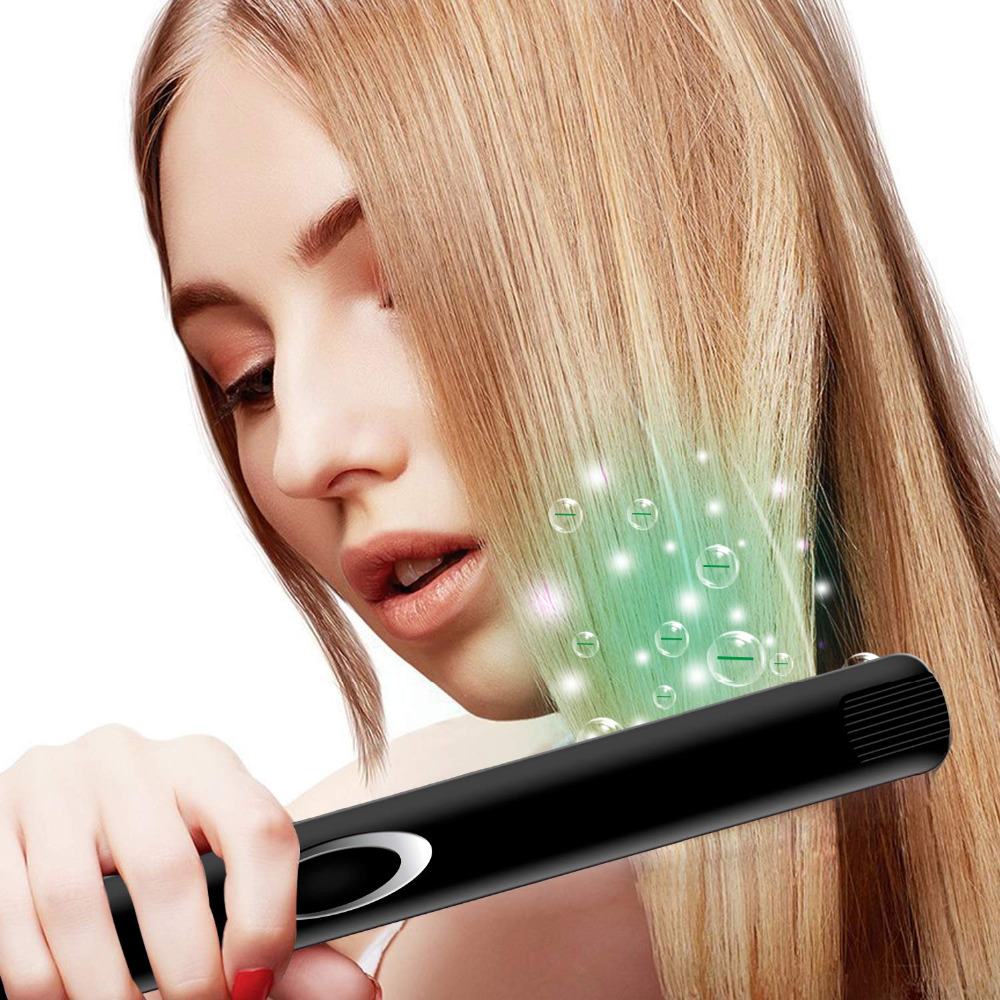 Madami Infrared Ions Ceramic Floating Plates Hair Straightener With LCD Display 110V-220V Dual Voltage Multi-function Flat Iron (3)
