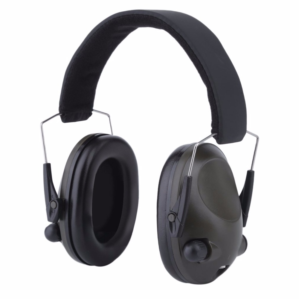 Green Slimline Anti-noise Earmuffs Electronic Impact Sport Hunting Tactical Earmuff Shooting Ear Defenders Hearing Protection forest defenders