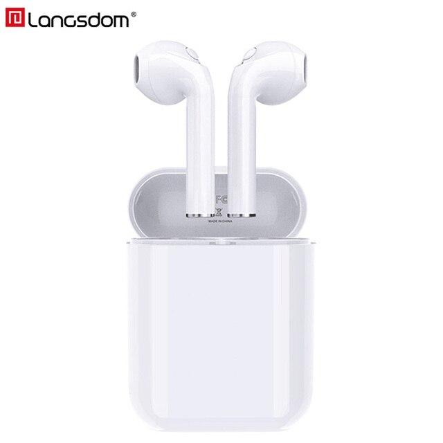 Langsdom беспроводные Bluetooth наушники истинные беспроводные наушники стерео гарнитуры для телефона Xiaomi HD связь портативный
