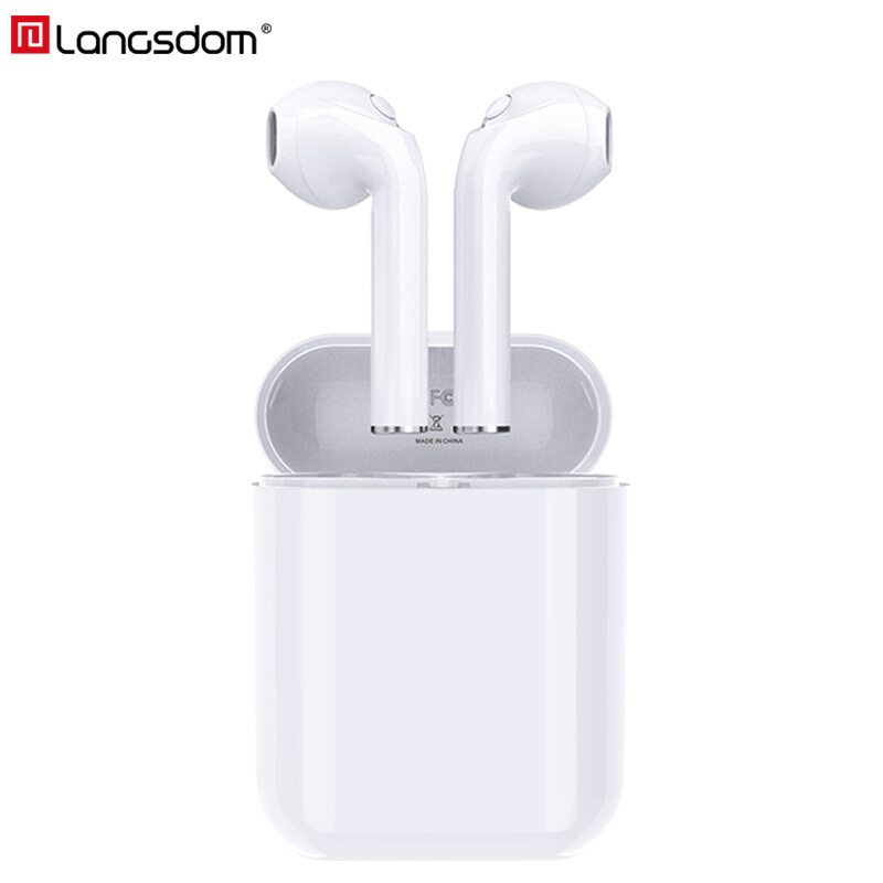 Langsdom Wireless Bluetooth Earphones True Wireless Headphone Earbuds Stereo Headsets for Phone Xiaomi HD Communication Portable tws bluetooth earphones with hd microphone true wireless mini earbuds hd stereo music headsets for mp3 pc phone