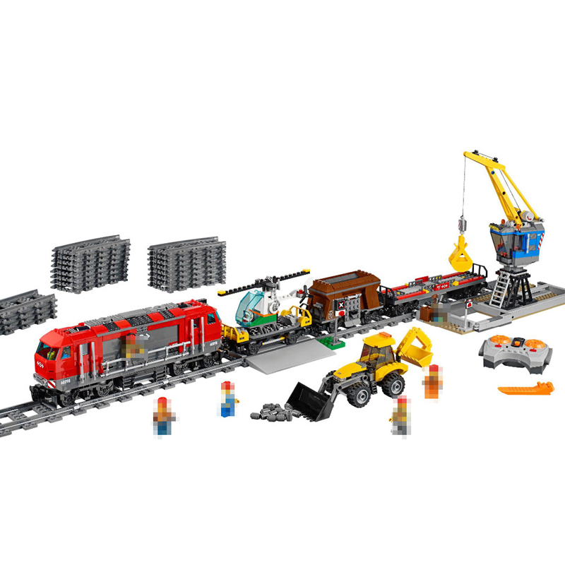 Lepin 02009 1033pcs City Engineering Remote Control RC Train Building Blocks Compatible with 60098 Brick Toys for children gifts