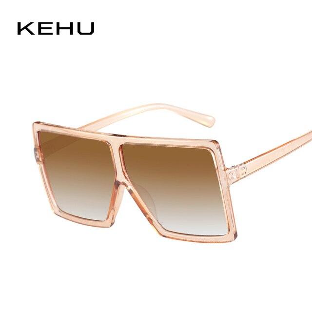 dcbd51f00c KEHU New Fashion Trend Women Sunglasses Classic Square Very Large Prevent  Bask In Glasses UV400 Individuality Eyeglasses K9269