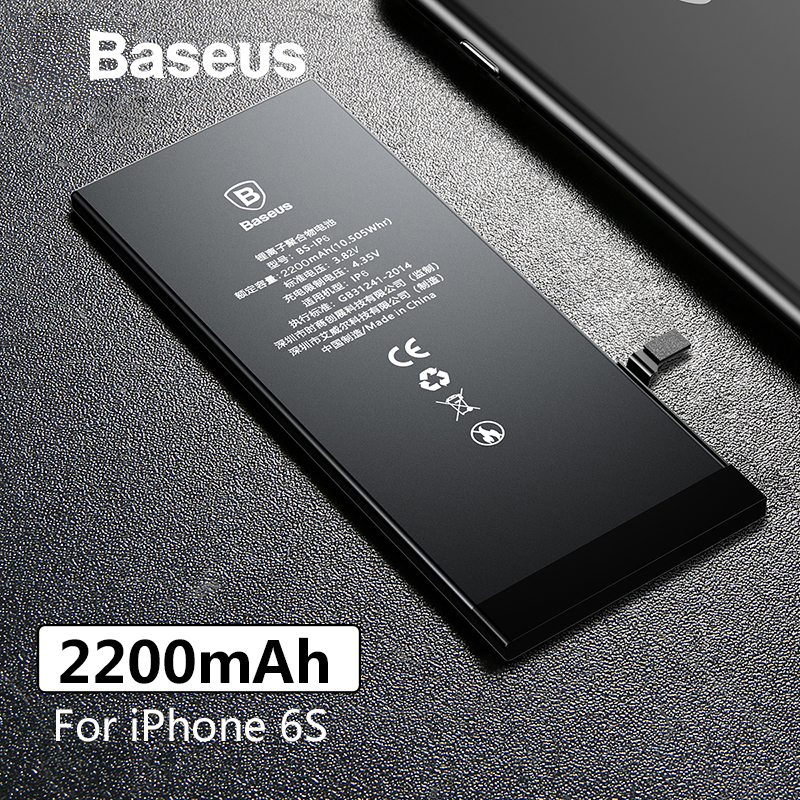Baseus Phone-Battery Replacement-Batteries High-Capacity Original 2200mah For 6S