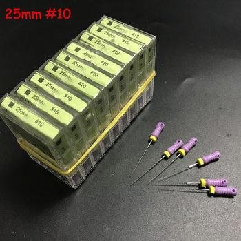10 boxen Dental Hand Verwenden K-Dateien Edelstahl Endodontie Instrumente 25mm #10