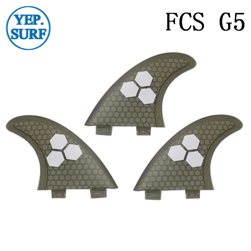 Surf Fins FCS G5 Fin Honeycomb Surfboard Fin Gray Color Surfing Fin Quilhas Thruster Surf Accessories