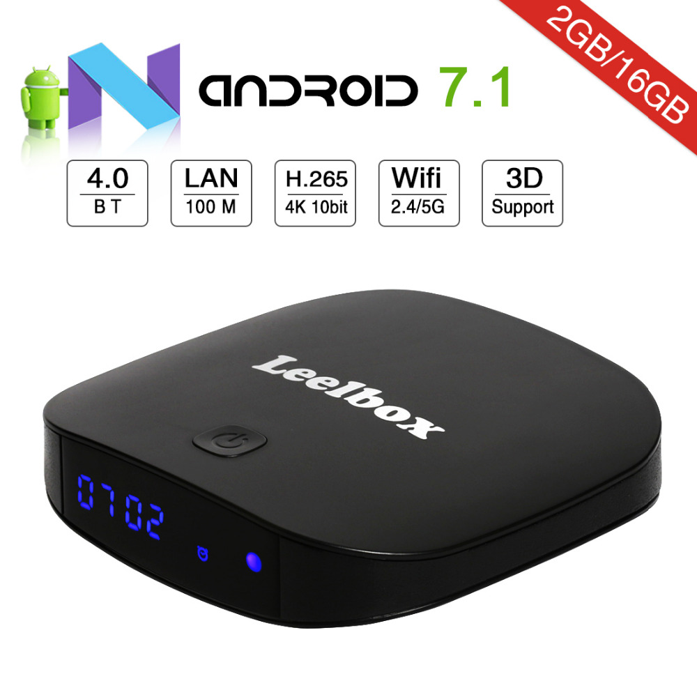 US $132 56 15% OFF|Leelbox Q2 Pro TV BOX Android 7 1 iptv free adult italy  arabic indian turkey Install fire IPTV See 2500 channl-in Set-top Boxes