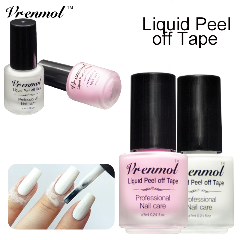 Vremol White Pink Finger Skin Protected Glue Peel Off Liquid Gel ...