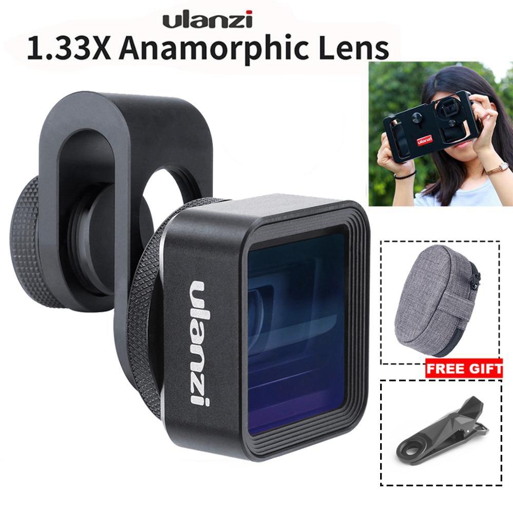 Ulanzi 1.33X Wide Screen de Vídeo Widescreen Anamórfico Lens Para O Telefone Móvel Lente Slr Filme Telefone Móvel Videomaker Cineasta