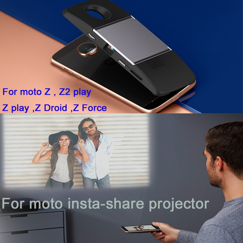 motorola phone with projector. for motorola moto z2 play z droid force phone dngn original mods insta share projector magnetic adsorption-in accessory bundles from with
