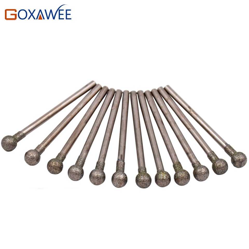 GOXAWEE 10pcs Round Diamond Grinding Wheel For Dremel Rotary Tool Diamond Burs Dremel Tools Accessories For Engraving Etching