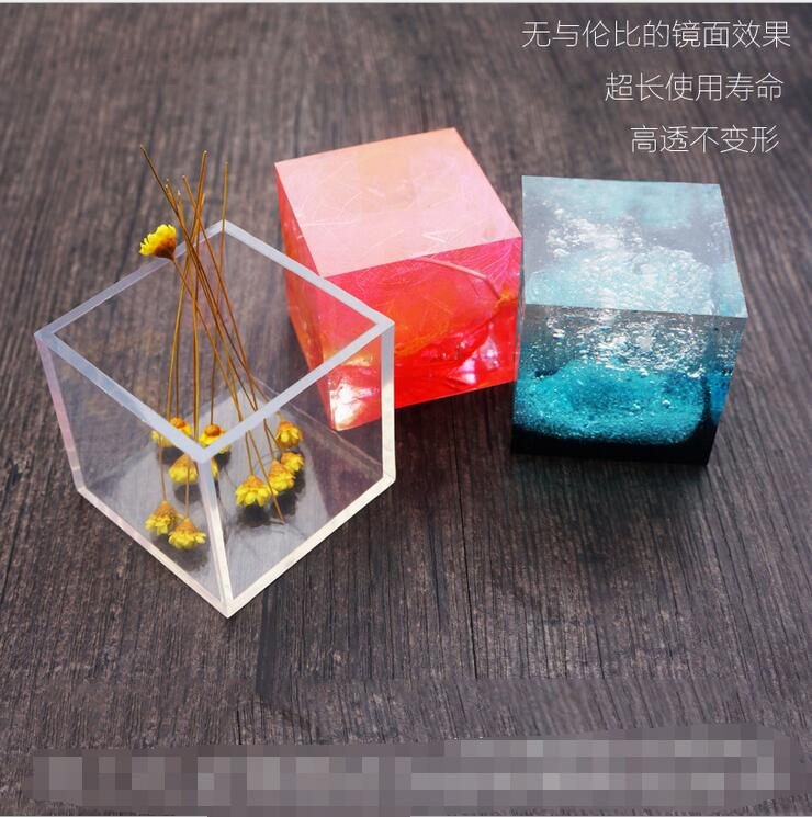 Square Silicone Pendant Mould For Resin Real Flower Diy