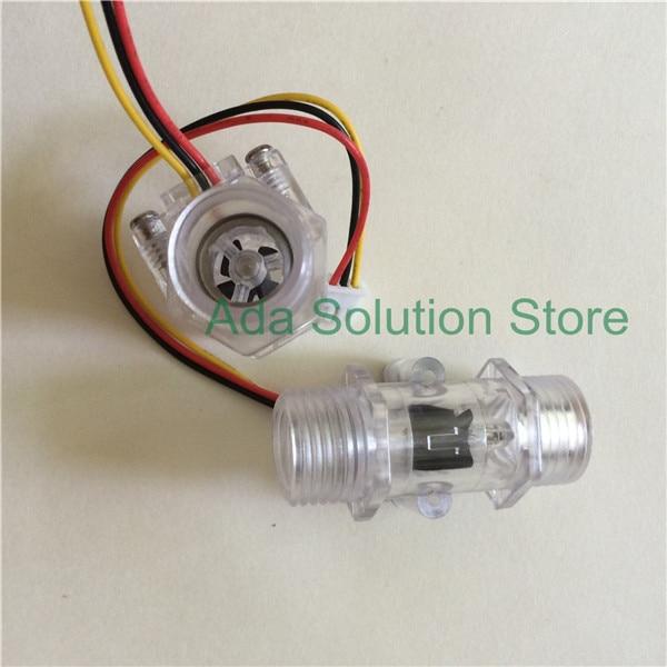 (10pcs)12  1~30Lmin Plastic Hall water flow sensor turbine meter
