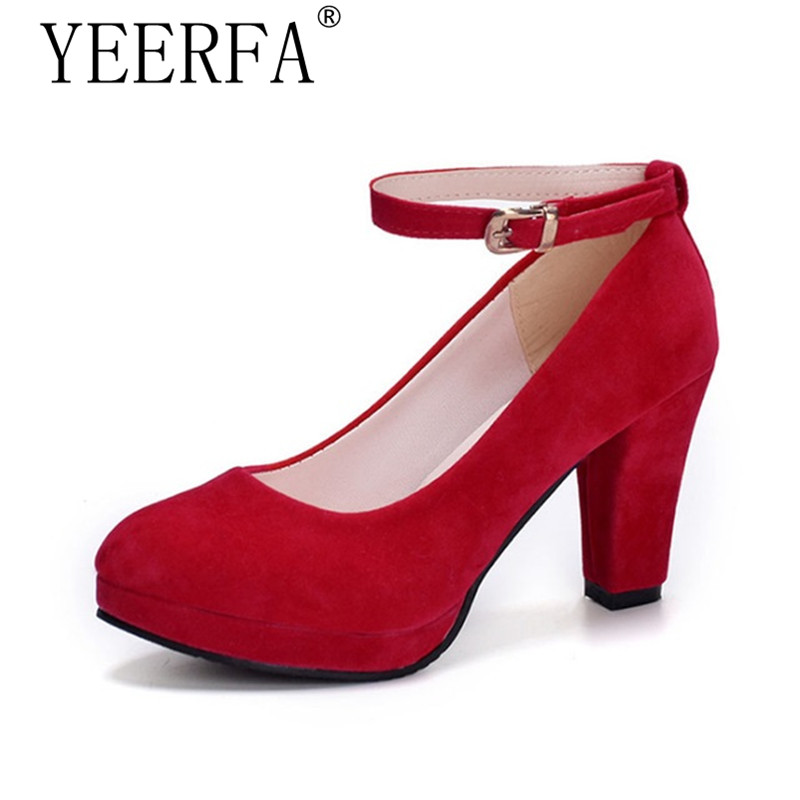 YEERFA High Heels Women Shoes Fashion Platform Round Toe Shoes Zapatos Mujer Shallow Mouth Sexy Pumps High Heel Shoes Woman apoepo brand 2017 zapatos mujer black and red shoes women peep toe pumps sexy high heels shoes women s platform pumps size 43