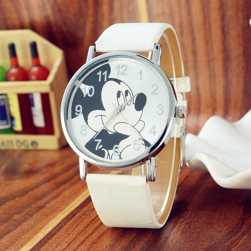 低価格高品質の子供のミッキーは、ファッション子供クォーツ腕時計ファッション子供たちを見て少年少女ギフト時計