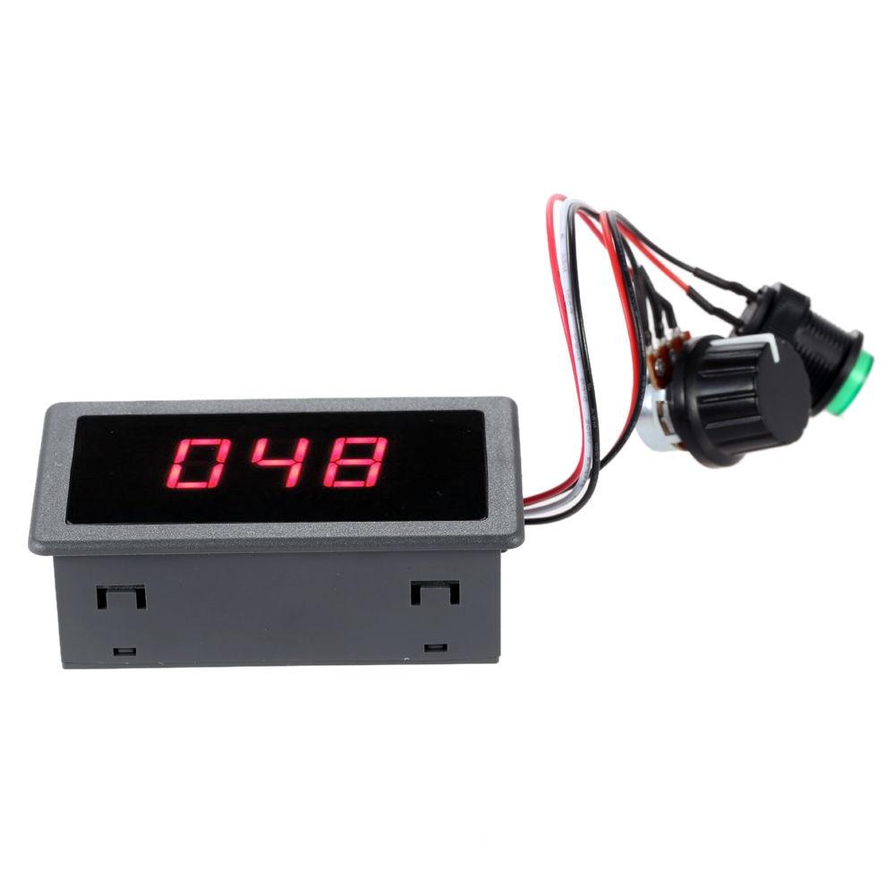 Digital Display Led 6V 12V 24V PWM DC Motor Controller Variable Speed Regulator