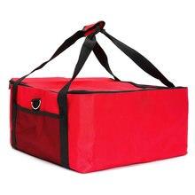 Sac de livraison de Pizza en tissu Oxford thermique, 16 pouces, Durable, facile à utiliser, Portable, aliments frais, boîte rouge, support isolé