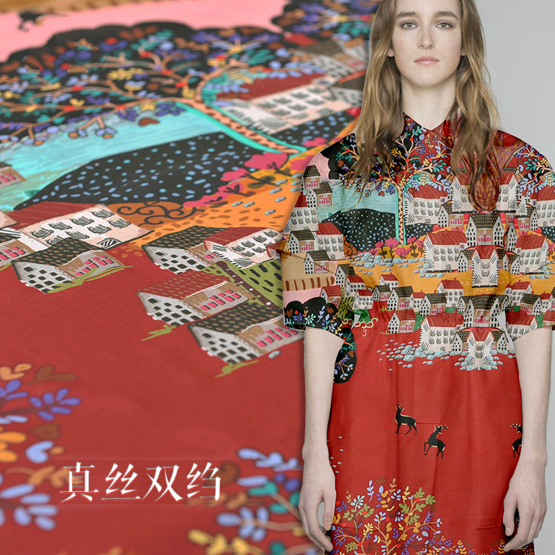 새로운 위치 140 cm 폭 16mm 인쇄 실크 크레페 드 신화 천 봄과 여름 자연 실크 직물 실크 옷감 드레스 셔츠-에서직물부터 홈 & 가든 의  그룹 2