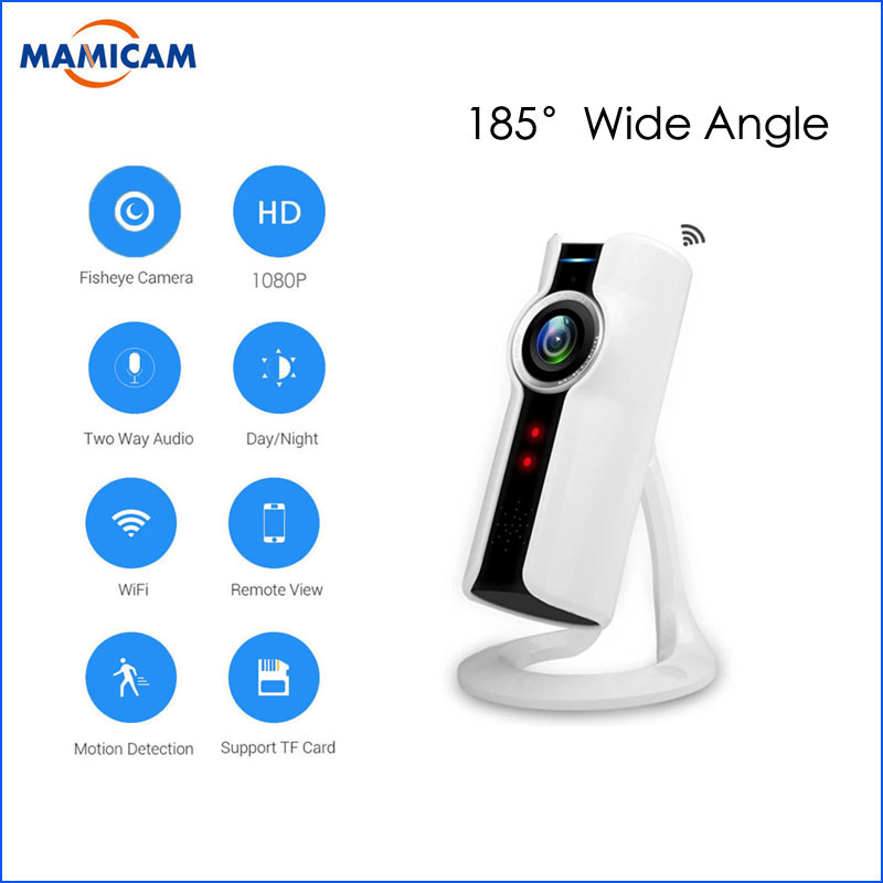 1080P Wireless IP Camera 180 Degree Panoramic Camera FishEye Night Vision Mini Baby Monitor Wifi CCTV Security IP Camera