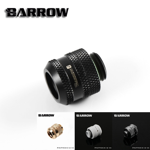 Barrow White Black Silver OD12mm Hard tube fitting hand compression fitting G1/4'' OD12mm hard pipe TYKN-K12 V4 barrow white black silver od12mm hard tube fitting hand compression fitting g1 4 od12mm hard pipe tykn k12 v4