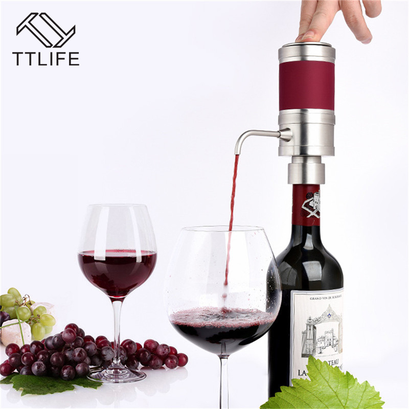 TTLIFE 2017 New Electric Decanter Wine Pourer Wine Decanter Homebrew Pump Style Cider Appliance Wine Aerator